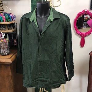 Emerald Green Dress Shirt by Apt 9 (16.5)